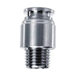 SPOC SS Round Male Straight Push in Fitting